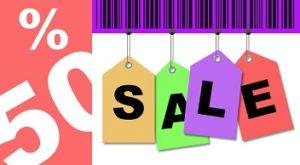 kortingsactie met sale verkoop